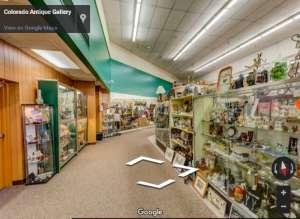 Do a virtual tour of the inside of the Colorado Antique Gallery NOW!